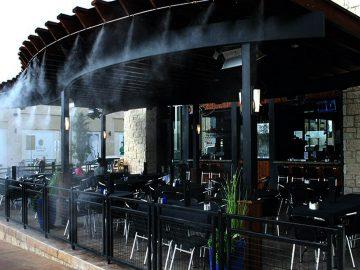 سیستم های مه پاش در رستوران ها سرماسان